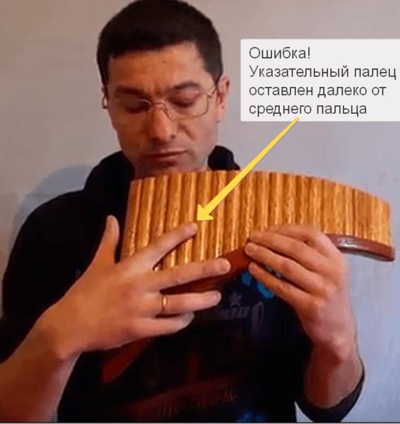 флейта пана растопырка